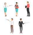 set icons business people vector image