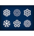 set winter snowflake vector image