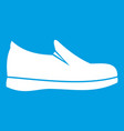shoes icon white vector image vector image