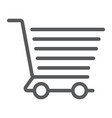 shopping cart line icon e commerce and store vector image vector image