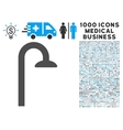 shower head icon with 1000 medical business vector image vector image