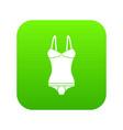 sleepwear icon green vector image vector image