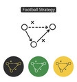 soccer strategy icon vector image vector image