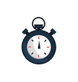 stopwatch office work business equipment icon vector image