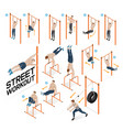 street workout exercises vector image