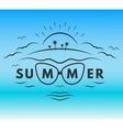 The emblem on the theme of summer holiday vector image vector image