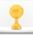 winner tennis cup award golden trophy logo vector image vector image