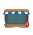 wooden market stall with awning vector image
