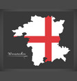 worcestershire map england uk with english vector image vector image