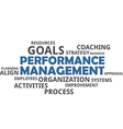 word cloud performance management vector image vector image