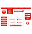 Design elements for website vector image