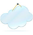 Pinned glass cloud frame vector image