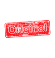 original red grunge rubber stamp vector image