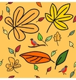2 autumn pattern vector image vector image