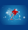 2020 happy new year background with gift vector image vector image