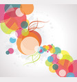 abstract background with transparent circles vector image vector image