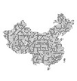 abstract schematic map of china from the black vector image vector image