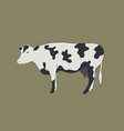 animal label cow icon vector image vector image