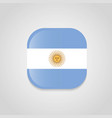 argentina flags design vector image vector image