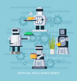 artificial intelligence robot concept vector image vector image