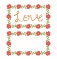 Beautiful floral love card vector image