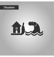 black and white style flood house vector image vector image