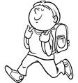 boy grade student coloring page vector image vector image