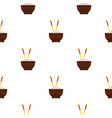 Brown bowl pattern seamless vector image