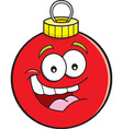 Cartoon Christmas tree ornament vector image vector image