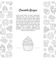 chocolate recipes natural chocolate banner vector image vector image