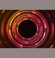 circle digital abstract sheet layer background vector image vector image