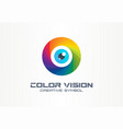 color vision circle eye creative symbol concept vector image vector image
