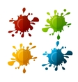 colorful blot set vector image vector image