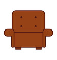 comfortable sofa isolated icon vector image vector image