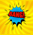 comic bang wording template vector image vector image