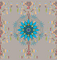 decorative round ornament outline mandala on gray vector image vector image