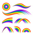 different rainbows isolate vector image