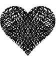 doodle heart shaped 1 vector image vector image