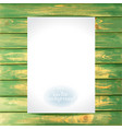 empty paper on wooden vintage background vector image