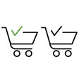 finish shopping cart icon vector image vector image