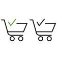 finish shopping cart icon vector image