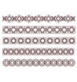 five decorative lines vector image vector image