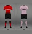football kit 2018-19 shirt template for soccer vector image vector image