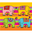 funny color elephants vector image