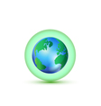 Green World Connection logo vector image vector image