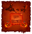 Happy Halloween pumpkin and haunted castle vector image vector image