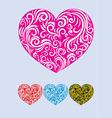heart love decor vector image