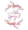 hello spring text letter vector image