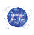 holiday greetings international peace vector image vector image