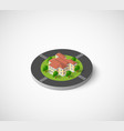 icon of the city with isometric houses vector image